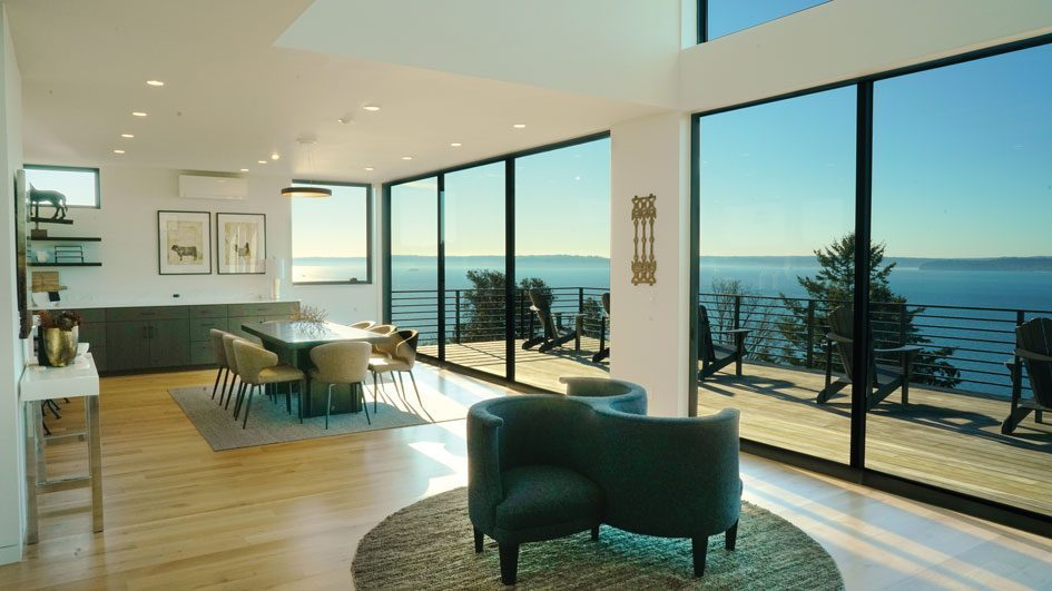 This new West Seattle home offers distracting views of Elliott Bay.